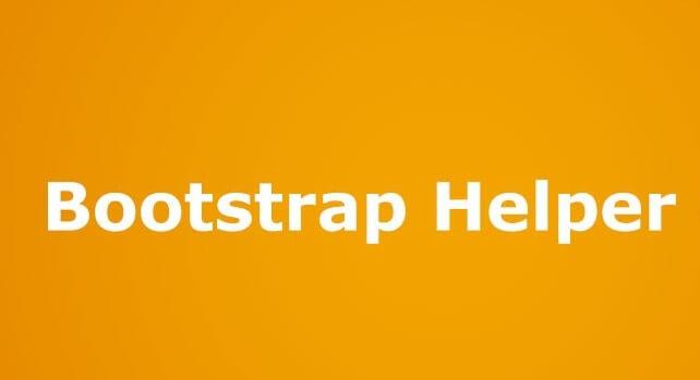 کلاس های کمک کننده (helper) در Bootstrap
