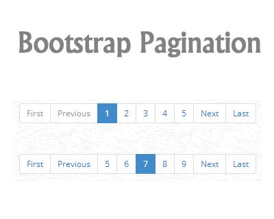 ایجاد صفحه بندی (pagination) در Bootstrap